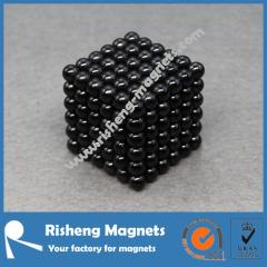 216+6 pcs 5mm Black Nickel Plated Sphere Magnets Neocube NdFeB Magnet Balls