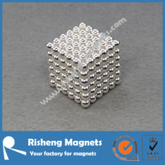 216+6 pcs 5mm Silver Plated Sphere Magnets Neocube NdFeB Magnet Balls