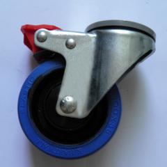 swivel elastic rubber casters