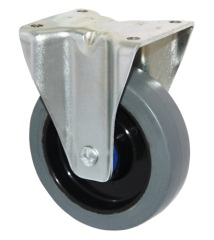 5 inches standard solid rubber casters