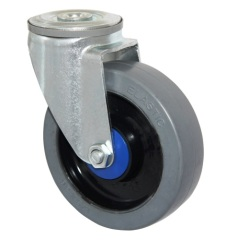 5 inches bolt hole fitting swivel rubber casters and wheels
