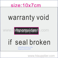 cheap factory wholescale tamper proof sticker