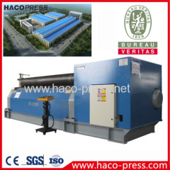 W11 Mechanical 3-Roller Rolling Machine 8mm,2000mm Metal Plate Bending Machine