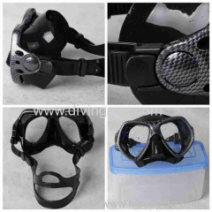 Tempered glass silicone strap diving mask