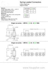 spring pins pogo pins connector contact plug probe