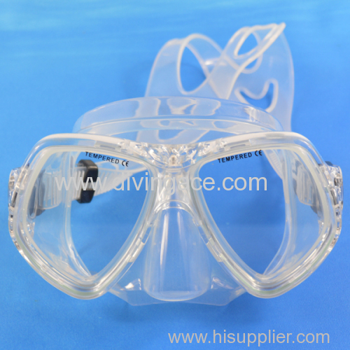 Tempered lenses glass diving mask scuba diving mask