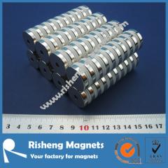 N42 handle magnet D19 x d13 x 6mm thin magnet