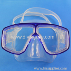 Liquid silicone full face mask diving with assorted colors and diving mask