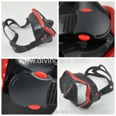 Glass lens diving mask diving equipment