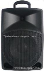 8'' battery powered speaker portable speaker with usb SD bluetooth and wireless mic
