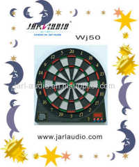 Safe electronic dartboard with LCD