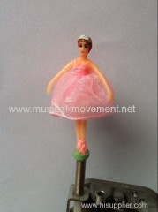 TULLE DRESS BALLERINA FOR PAPER JEWELRY ON OFF SWITCH MUSIC BOX 18 NOTE WIND UP