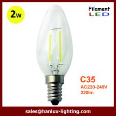E14 COB 2W C35 LED filament bulbs