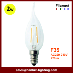 F35 LED filament bulbs