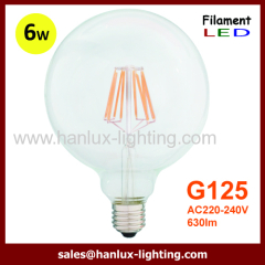 E27 6W COB G125 LED Filament bulbs