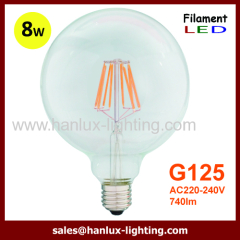 E27 8W COB G125 LED Filament bulbs