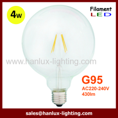 E27 4W G95 LED filament bulbs
