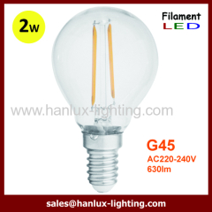 E14 2W G45 LED filament bulbs
