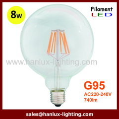 E27 8W LED filament bulbs