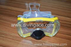 New yellow PVC/silicone diving mask