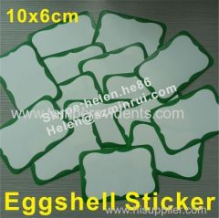 Custom Blank Eggshell Graffiti Stickers