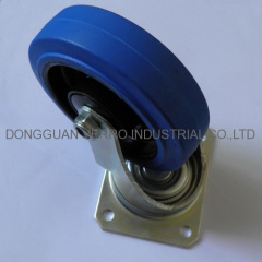 Ball bearing rubber swivel casters