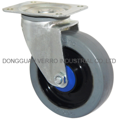 Industrial ball bearing rubber wheel swivel casters