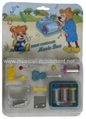MAKE YOUR OWN MUSIC BOX 18 NOTE HAND CRANK CHILD MUSIC BOX KITS
