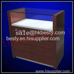 jewelry display counter with LED lighting