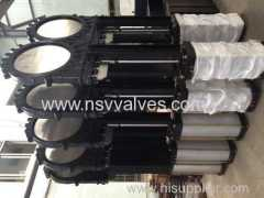 Cast Iron Pneumatic Wafer Knife Gate Valve