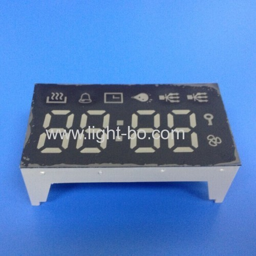 Custom Pure Green 4-Digit 7 Segment LED Display for Oven Timer Control