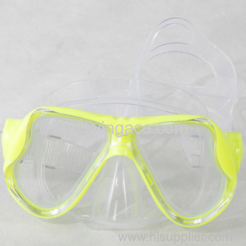 Double Glass silicone diving mask