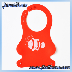 Red cute Silicone baby bibs supplier