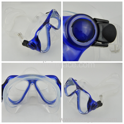 Tempered glass Freediving mask