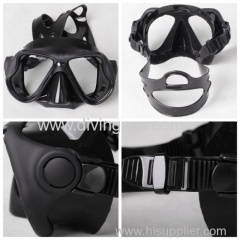 Low volume PVC diving glasses