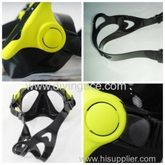 Professional two glasses lens diving mask