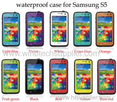 waterproof case for samsung s-5 i-9600 phone super good rug-ged case