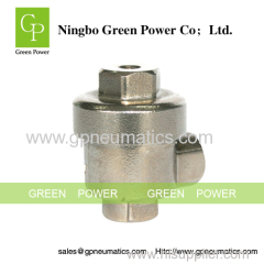 Right angle stainless steel check valve