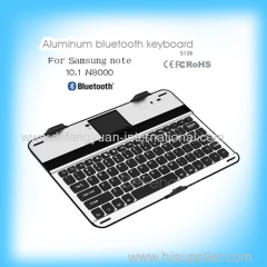 For Samsung note 10.1 N8000 aluminum bluetooth keyboard