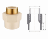 CPVC WATER SUPPLY PIPE FITTINGS DIN(MALE ADAPTOR BRASS)