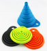 Foldable Easy clean Silicone Rubber funnels