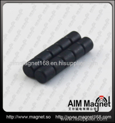Black coating strong ndfeb round magnet
