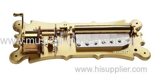 DELUXE WIND UP MUSIC BOX MOVEMENT CLASSICAL SHAPE 5 DRUMS EXCHANGEABLE LARGE 78 NOTE