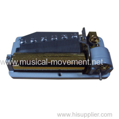DELUXE BACK WIND UP MUSIC BOX MOVEMENT LARGE 50 NOTE