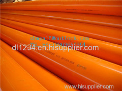 CPVC pipe for threading electric wire and cable