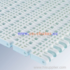 Flush Grid E50 For cooling freezing plastic conveyor belt