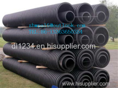 HDPE double wall corrugated pipe/pe tube
