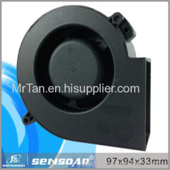 High qulity ROHS CE certified 97*94*33mm dc blower cooling fan from China for electronics and equipment