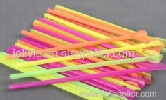colorful spoon straw plastic