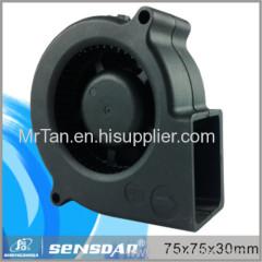 75*75*30mm plastic blower 5V 12V 24V high peroformance cooling ventilating for equipment